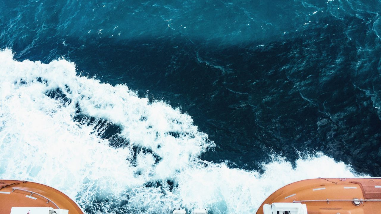Going overboard! Sea Nautical Vessel Motion Vacations Yacht Speedboat Outdoors Day Boat Deck No People Yachting Orange Color Cruise Ship Blue Abstract Nature Hello World Check This Out EyeEm Lifeboat Fun Ocean View Ocean Transportation High Angle View