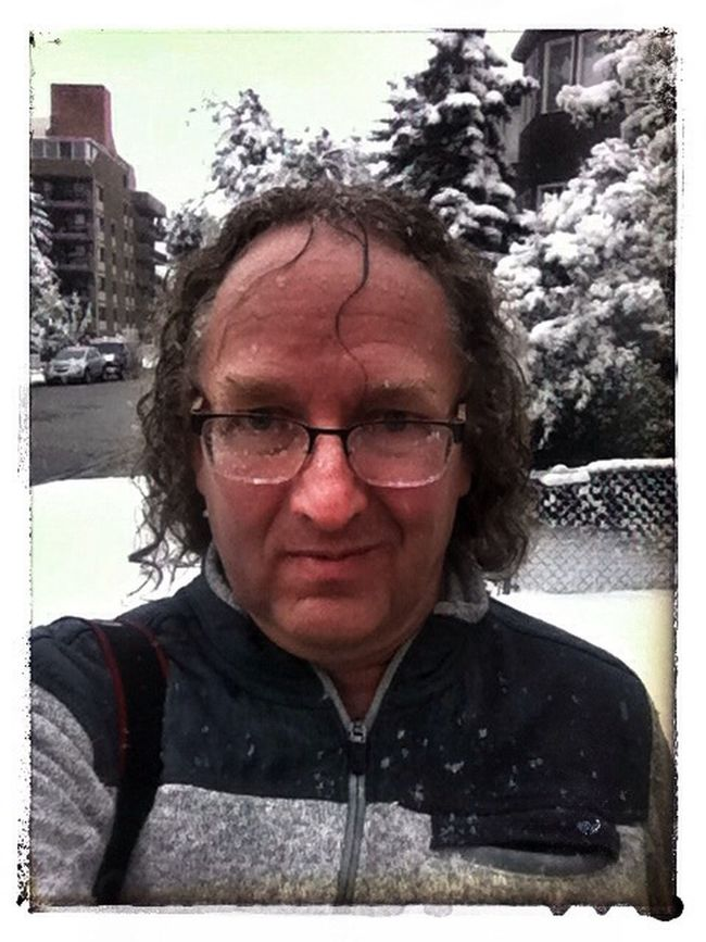 September 8, selfie while walking in the snow. Winter Already? Snow That's Me Selfie