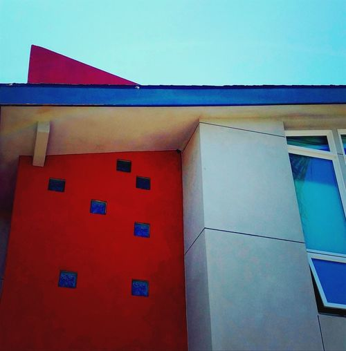 Architecture Eves Design Lines Abstract Simple Artistic Red Blue Yellow Gold Color Pattern Simple Minimalistic