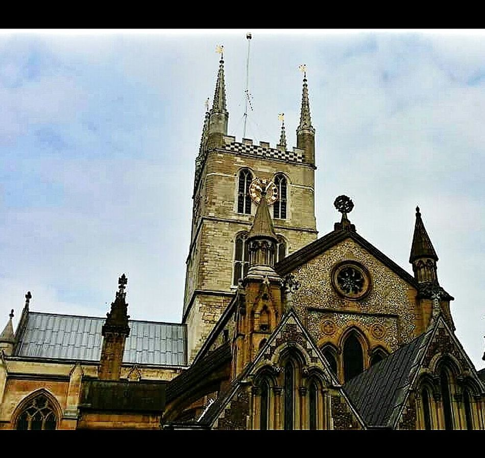 Southwark Cathedral, built between 1106 and 1897, has been a place of christian worship for more than 1000 Years . It has been a cathedral since 1905.John harvard, a founder of harvard university, was born in the parish and baptised in the church on 29 november 1607. Shakespeare's brother, edmund was buried there in 1607. The cathedral is in an area heavily bombed by the germans in WWII. Between 7 oct 1940 and 6 june 1941, 1651 high explosive bombs and 20 parachute mines were dropped in southwark. It was reported on 20 feb 1040 that the cathedral had been damaged. Southwark  London England Travelphotography Architecture