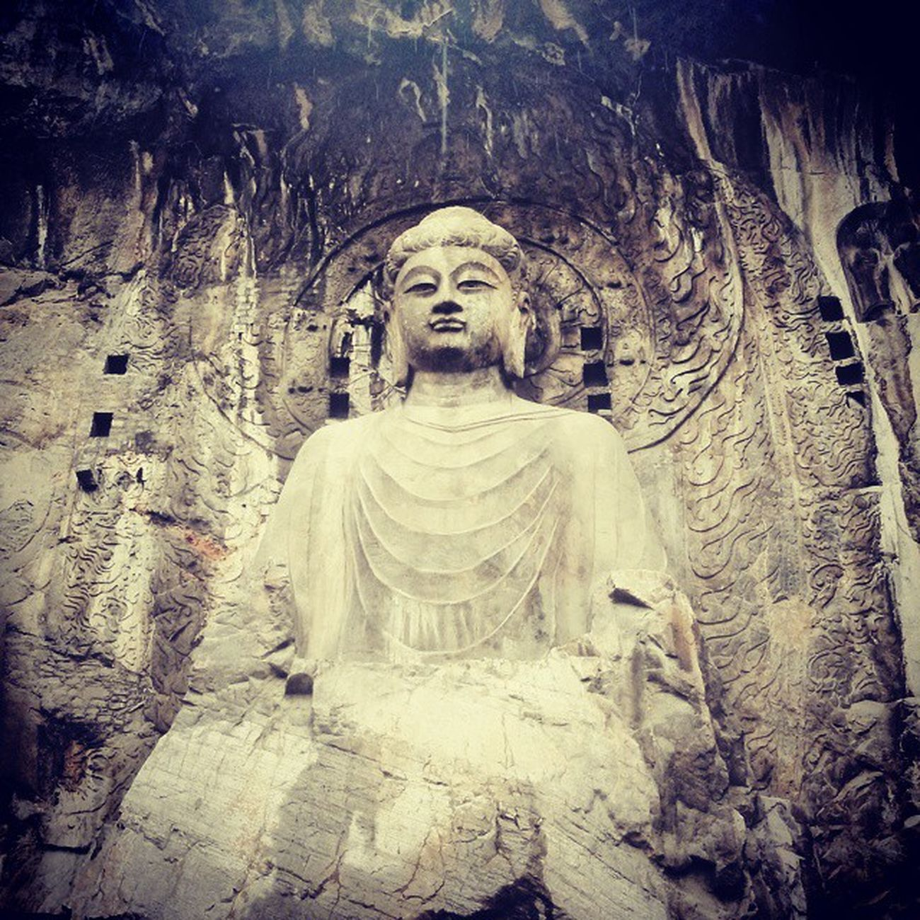 Luoyang - grotte di Longmen Arte buddhista in Cina, Grande Vairochana 洛阳 龙门石窟 佛教 Buddhism Art Vairochana