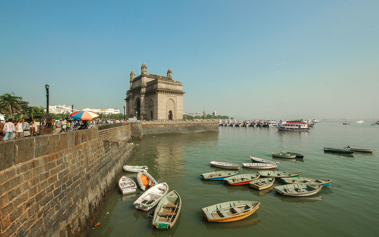 Gateway of India Architecture Architectyre Blue Boat Boats Bombay Built Structure Capital Cities  City Day Gateway Of India India Mode Of Transport Mumbai Nautical Vessel Outdoors Sampans The Great Outdoors - 2016 EyeEm Awards The Great Outdoors With Adobe Tourism Tourist Travel Travel Destinations Travel Photography Water