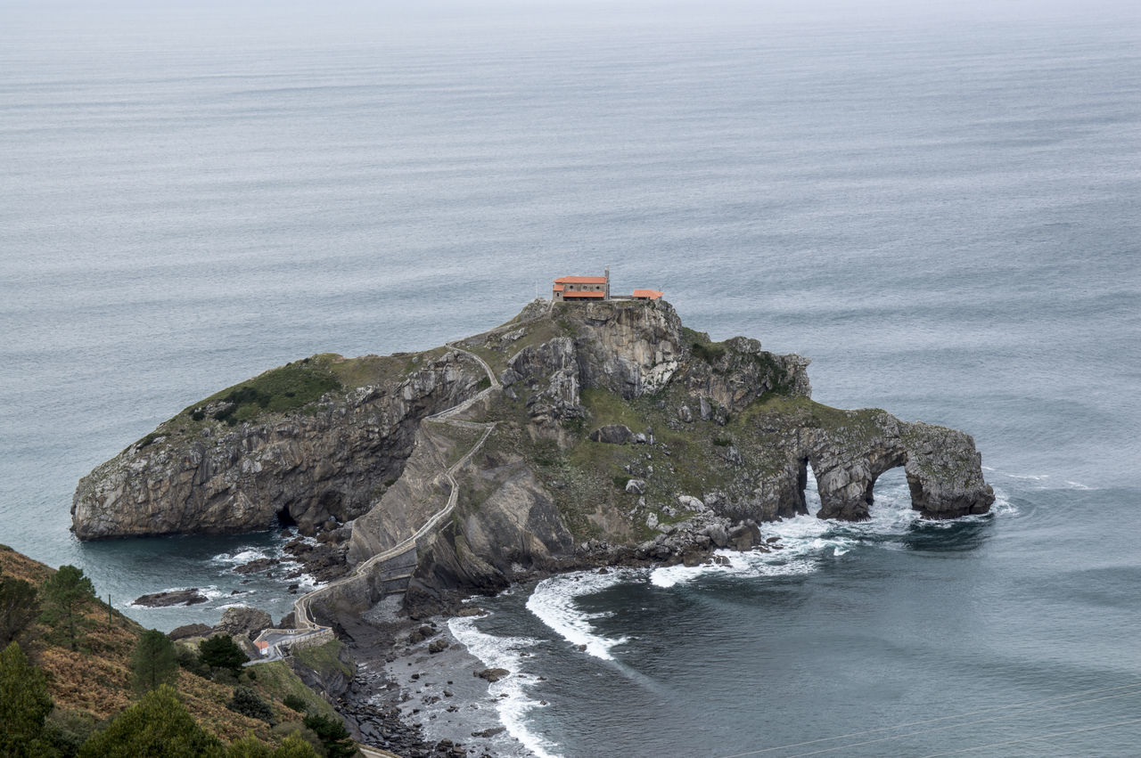 Beauty In Nature Cliff Day High Angle View Horizon Over Water Landscape Nature Nature No People Ocean Outdoors Rock - Object Rock Formation San Juan De Gaztelugatxe Scenics Sea Sky SPAIN Tranquility Vizcaya Water