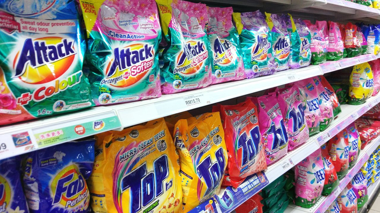 Multi Colored Day Retail  For Sale No People Detergent Colorfull Clean