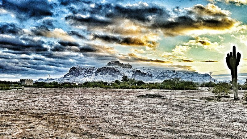 Apache Junction HDR Hdr Edit Superstition Mountains With Snow Arizona Eye4photography  Hello World Check This Out Hanging Out Hi!
