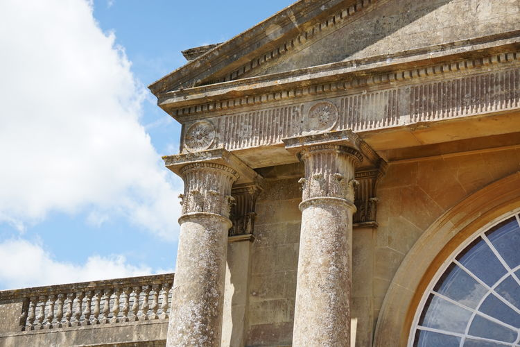 Ancient Architectural Column Architecture Bowood Building Exterior Built Structure Cloud - Sky Country House Day History Low Angle View No People Outdoors Sky Travel Destinations