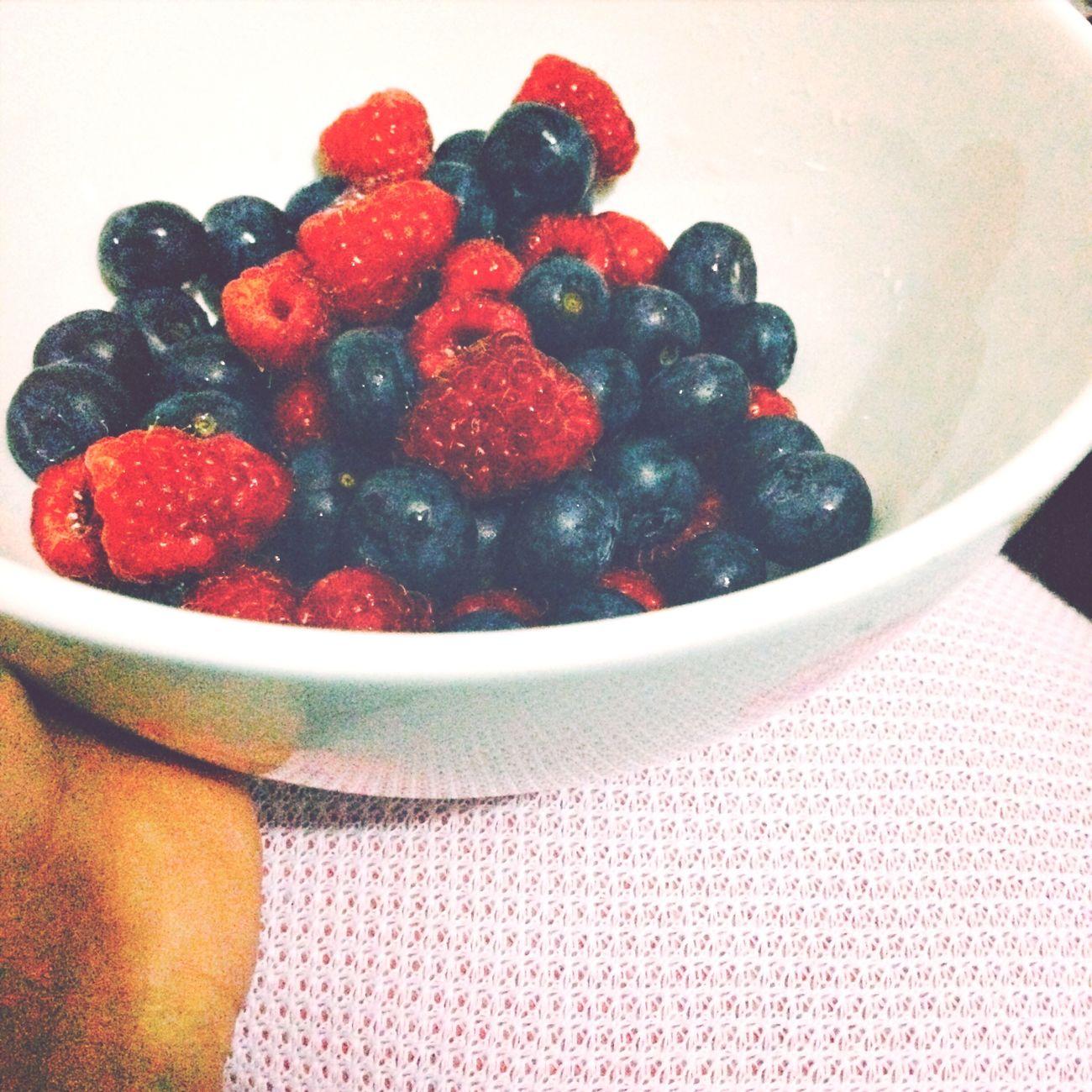 Blueberries Lamponi  Fruits Berries