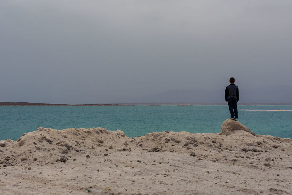 moon stand Deadsea Full Length Horizon Over Water Israel Long Goodbye Nature One Person Sea Standing Water Well-dressed Winter Young Adult מייעמית EyeEm Diversity Art Is Everywhere