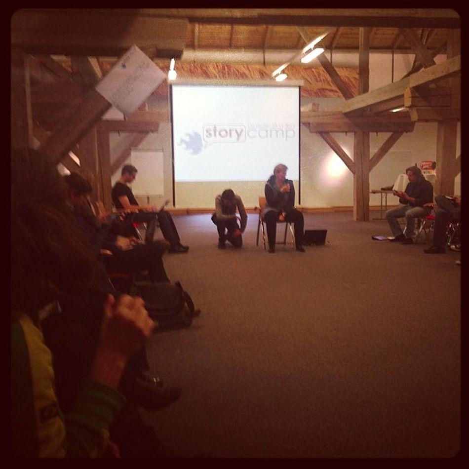 nächste Session mit Mikroboy #storycamp12 Storycamp12