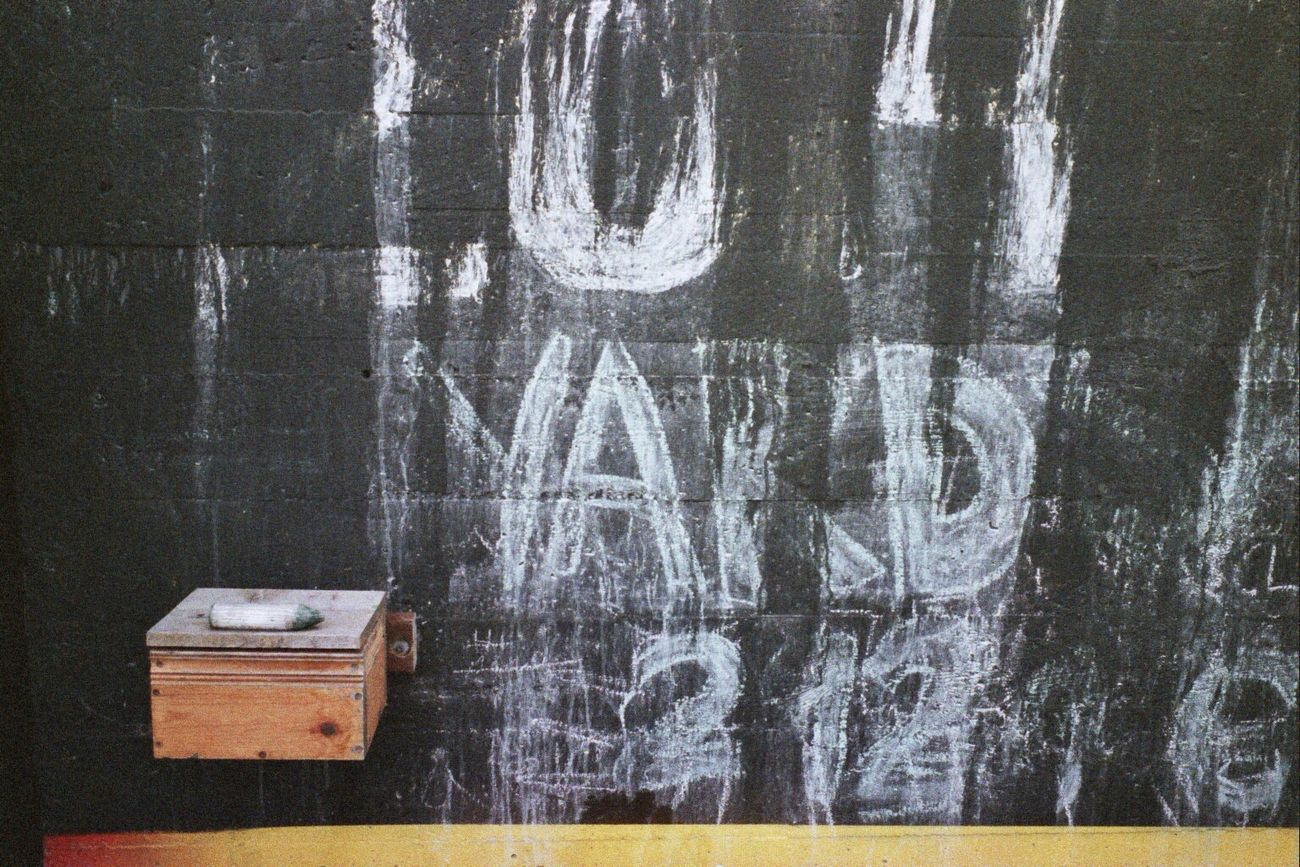 Taking Photos Chalkboard Wall Klasse W 35mm Film