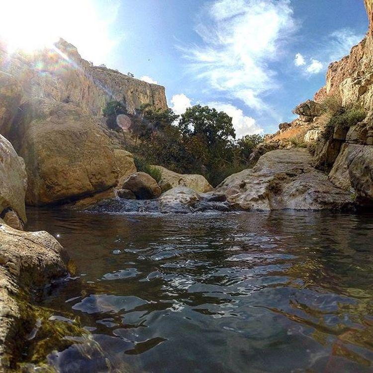 This Oasis Betweenthemountains in the Desert is like... Heaven Einprat Wadiqelt Hiddenwater Pools  Sneakysun PerfectGetAway Goprohero3plus Desertspa Clouds Skies Sunrays Rocks Relax Nofilter