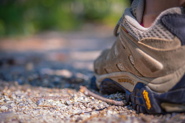 Narrow depth of field on Merrell hiking shoe standing on dirt trail in Massachusetts. Adventure Bokeh Bokeh Photography Boot Close-up Day Depth Of Field Explore Exploring Focus On Foreground Hike Hiking Man Made Object Merrell No People Outdoors People And Places Selective Focus Shoe Shoe Shoes Trail Walk Walking Weathered