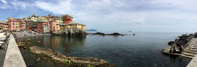 Boccadasse Panorama Sea City Genova Beach
