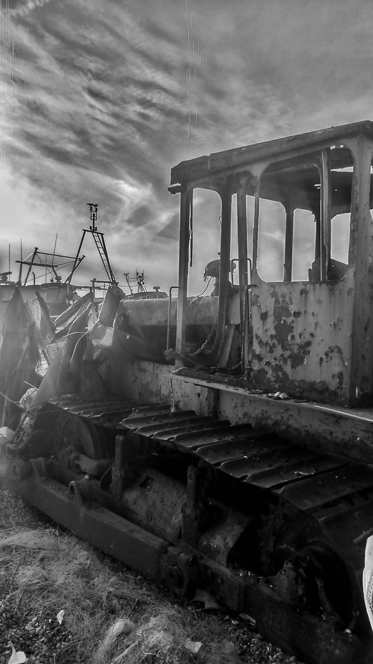 Rust Rusty Old Black Blackandwhite Beach Tranquility Tracks Fishing Abandoned Abandoned & Derelict Derelict Vehicle Taking Photos Nonconformity Beauty Alternative Seeing The Sights Black And White Photography Sea Grey Rebel