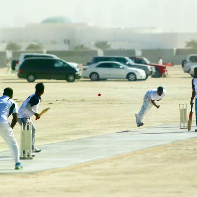 Cricket cup finals at the Qatar cricket association... Stopmotion Red