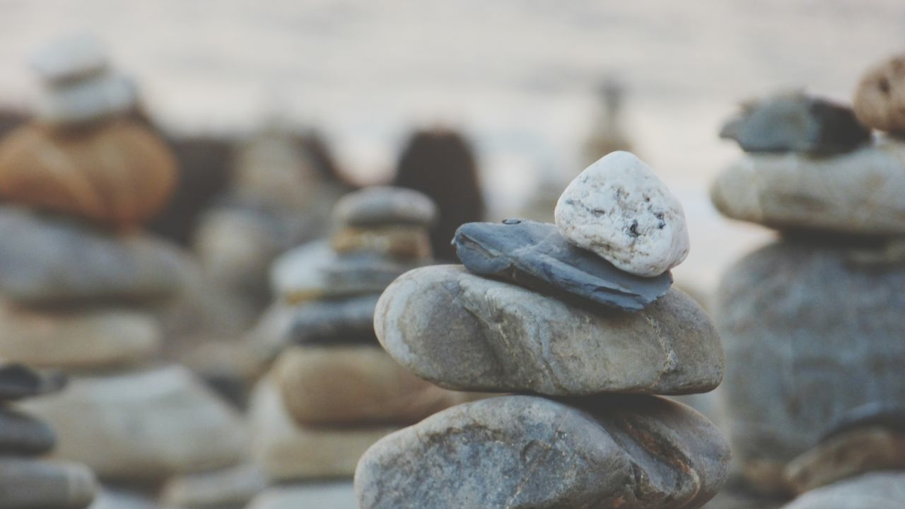 EyeEm Selects Stack Focus On Foreground Beach No People Close-up Photograph Day Outdoors Zen Rocks Zen Rock At Beach Zen Rock At Sunset Backgrounds Rock - Object