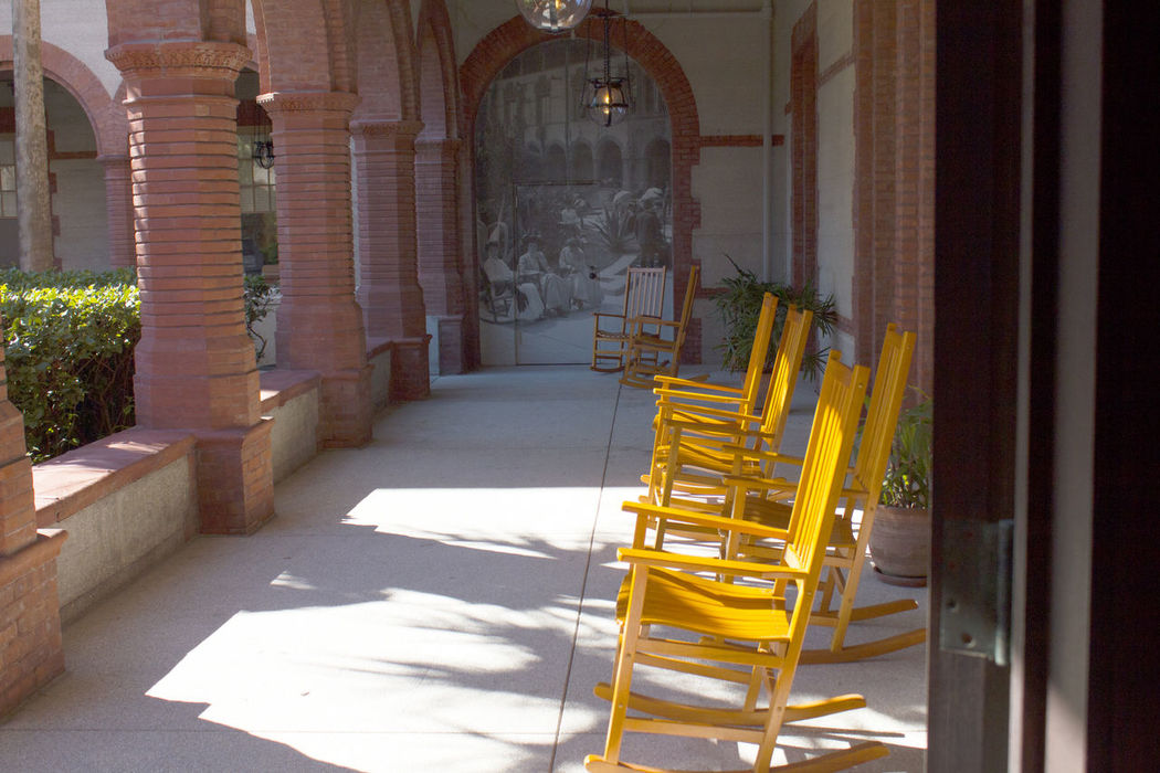 Chair EyeEm FlaglerCollege In A Row Light And Shadow Rocking Chairs Showcase:December Sitting St. Augustine