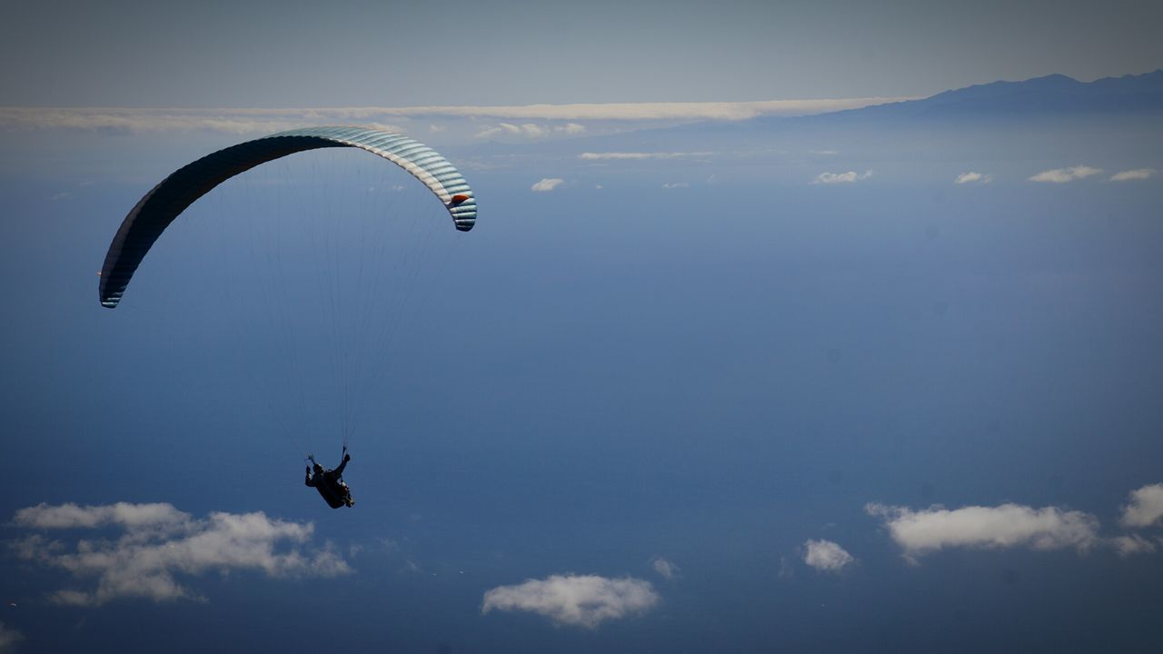 Outdoors Paragliding Sky Flying No People Day Tranquility Cloud - Sky Scenics Parachute Airshow Nature First Eyeem Photo