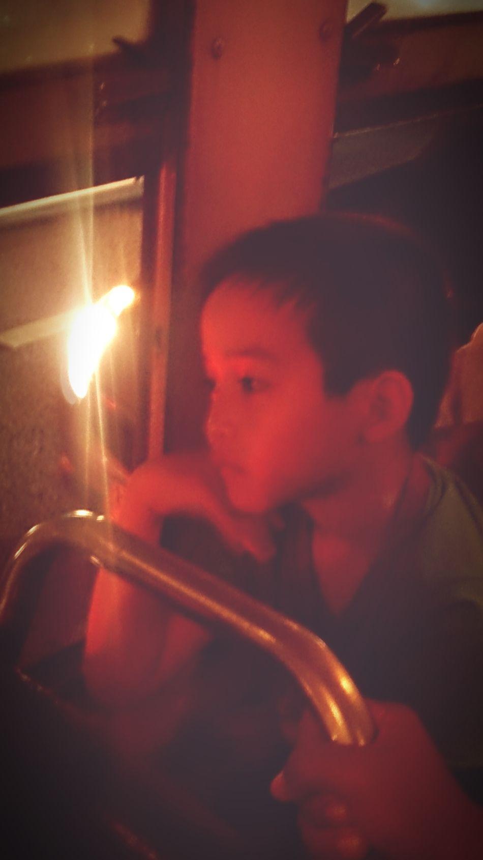Kids Boy Thinking Missing Thebus Ontheroad Nightbus Bangkok Boring Trafficjam