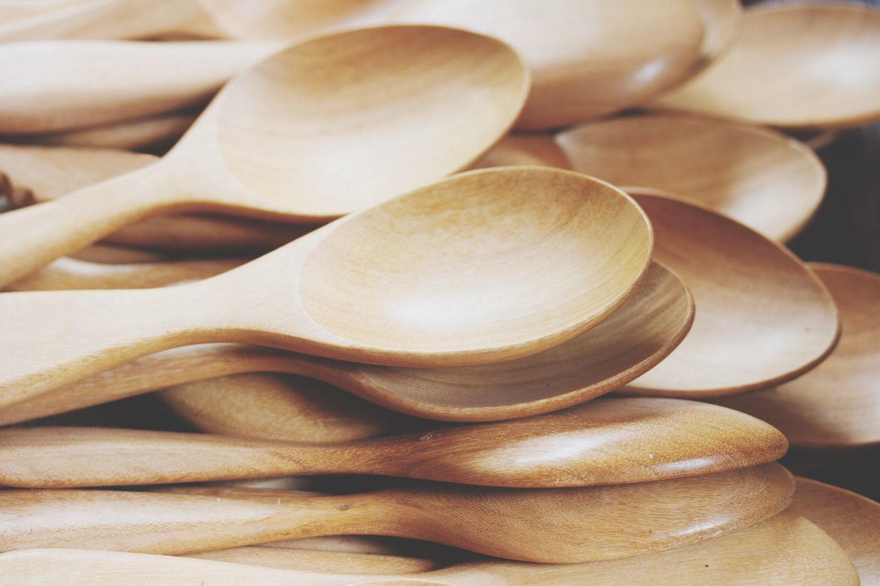 Spoon Wood Wood - Material Wooden Kitchen Kitchenware Spoons Spoon And Fork Nature Netural