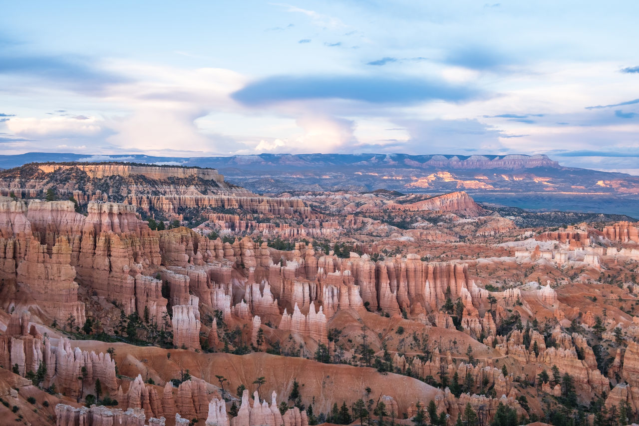 Beauty In Nature Bryce Canyon Bryce Canyon National Park Day Landscape Nature No People Orange Color Outdoors Rock - Object Rock Formation Rock Hoodoo Scenics Sky And Clouds Skyscape Tourism Travel Travel Destinations