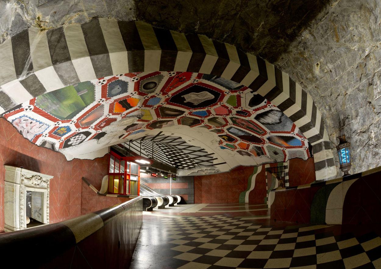 Stockholm Sweden Kungsträdgården, Stockholm Pattern, Texture, Shape And Form Transportation Underground Station  Architecture Built Structure Indoors  No People Subway Station