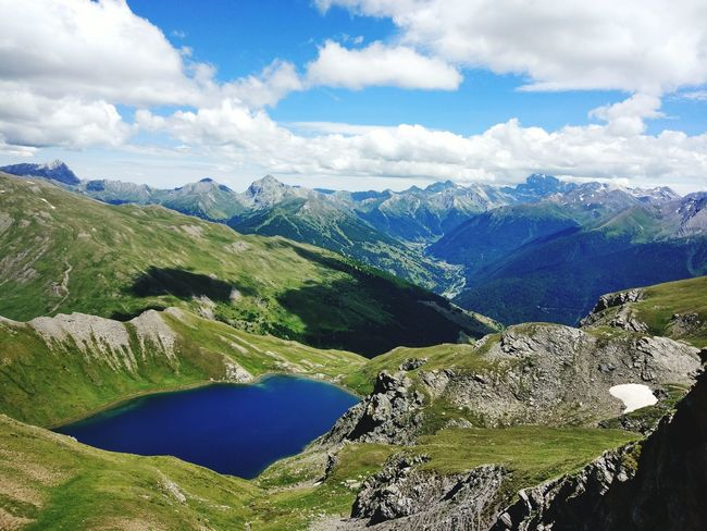 Lac de Malrif. Hautes-Alpes. Lac Mountains Summer2016 Outdoor Photography Hiking Hikingadventures Landscape_Collection Sky And Clouds EyeEm Best Shots Summer The Essence Of Summer Landscape Mountain View