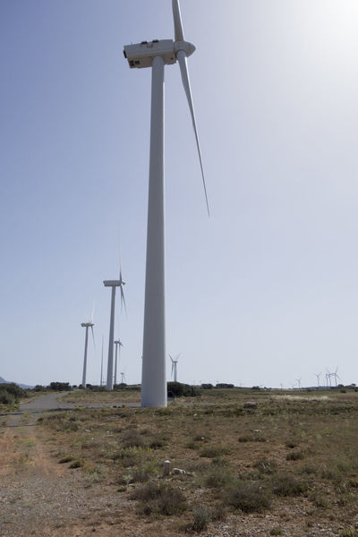 Alternative Energy Barracas Castellón Clear Sky Day Environmental Conservation Field Fuel And Power Generation Grass Industrial Windmill Landscape Low Angle View Nature No People Outdoors Renewable Energy Rural Scene Sky Technology Traditional Windmill Wind Power Wind Turbine Windmill