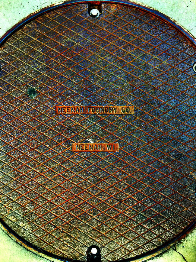 Manhole  Heavy Metal Textures IPhoneography