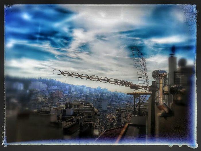 La antena. Thessaloniki Urban Landscape The View From My Window