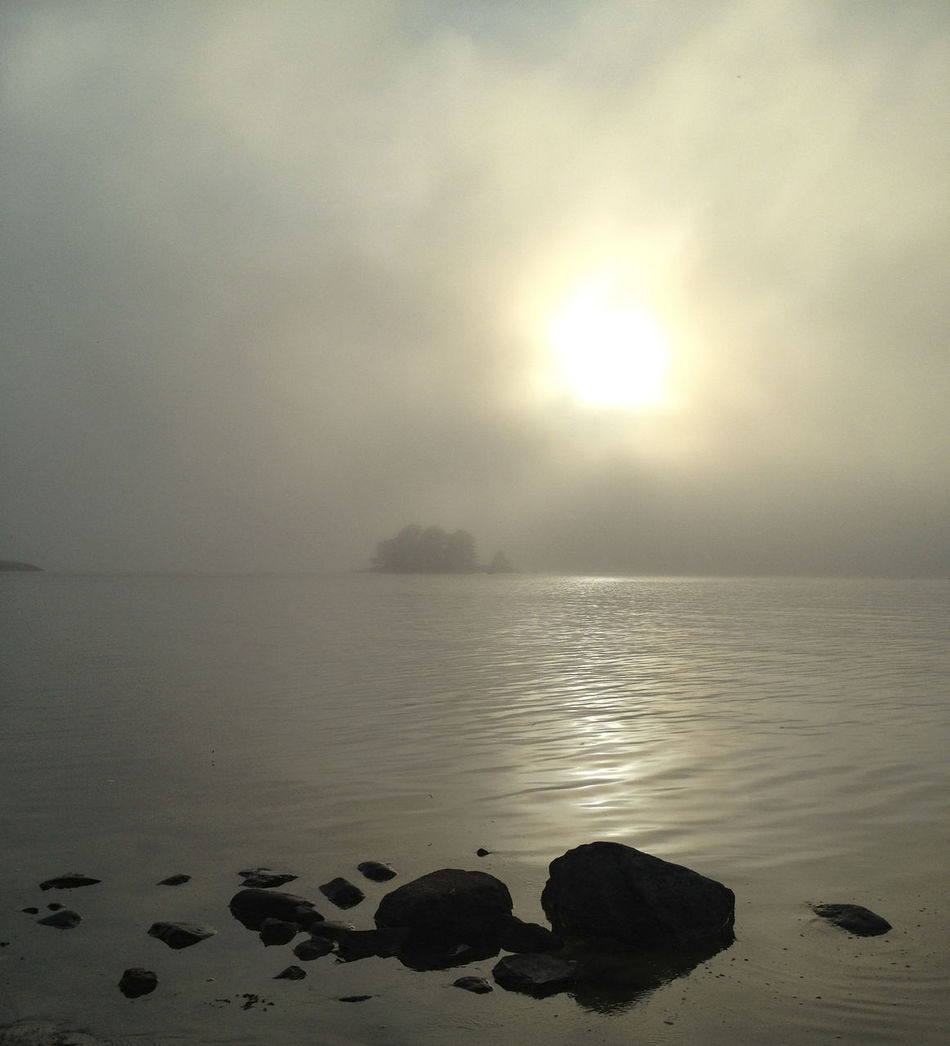 Beauty In Nature Cloud - Sky Day Fog Gulf Of Finland Horizon Over Water Island Island In Mist Misty Morning Nature No People Outdoors Scenics Sea Sky Tranquil Scene Tranquility Water