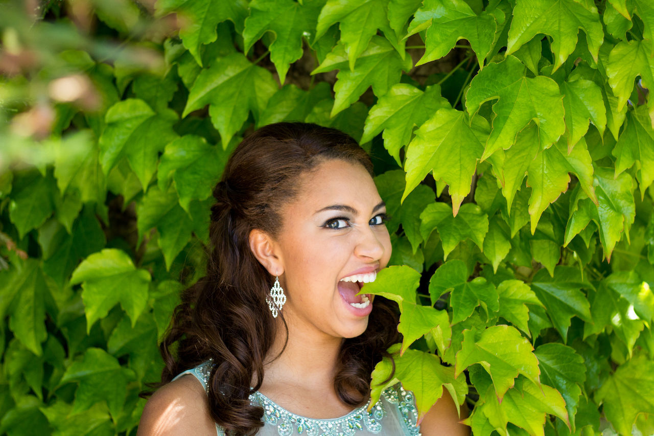 Beautiful stock photos of prom, green color, leaf, one person, young adult