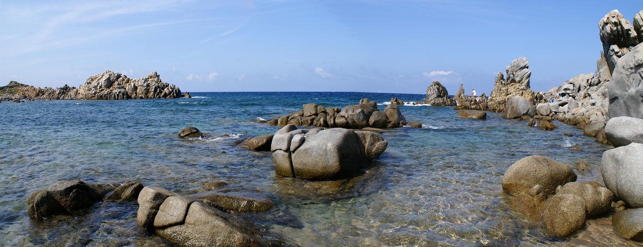 Beach Blue Capo Testa Coastline Costa Smeralda Landscape Mare No People Panoramic Santa Teresa Gallu Sardegna Sea