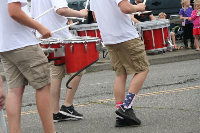 4th Of July 2016 4th Of July Parade Casual Clothing Celebration City City Life Cultures Day Drums Group Of People Leisure Activity Lifestyles Marching Band Medium Group Of People Musical Instruments Outdoors Patriotism Red Uniform