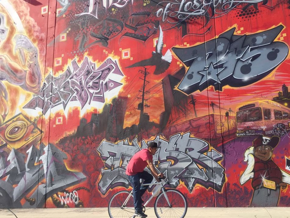 Bicycle Multi Colored Painted Image Day Streetphotography Graffiti Art