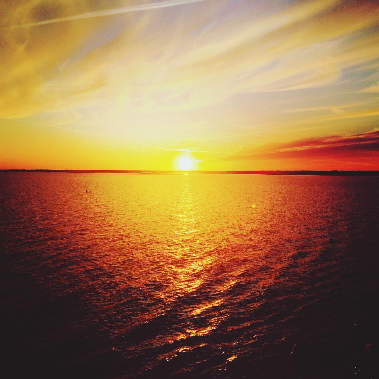Sunset Sweden Sverige Karlskrona Stenaline Memories