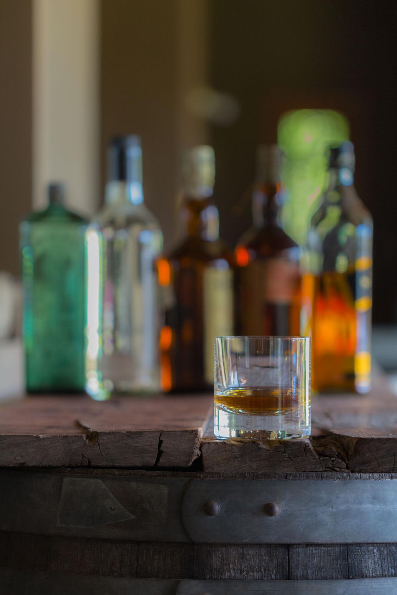 Golden GLAMOR Status Barrels Wood Indoors  Food And Drink Bar - Drink Establishment No People Drinking Glass Close-up Table Bar Bottles Whiskey Alcohol Drink Food And Drink Industry Barrel Food And Drink