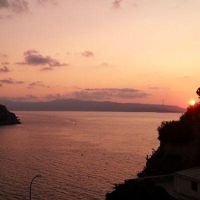 Scilla Calabria Sicilia Sunset