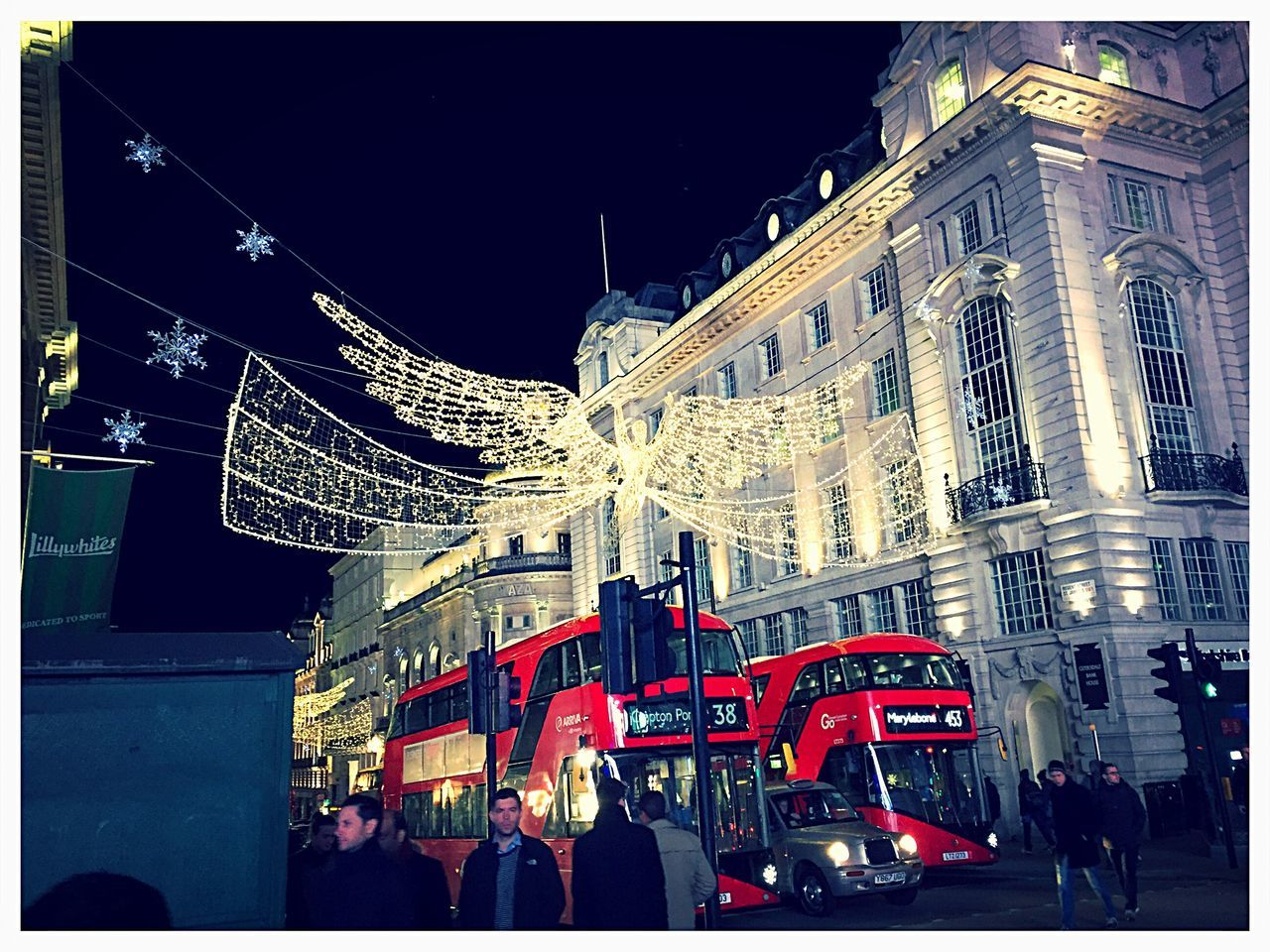 Regent street 2016 Regent Street  London LONDON❤ Christmas Lights Christmas Decoration Christmastime Angel Double Decker Bus London Bus Stars People Illuminated Red Building Exterior London Lifestyle
