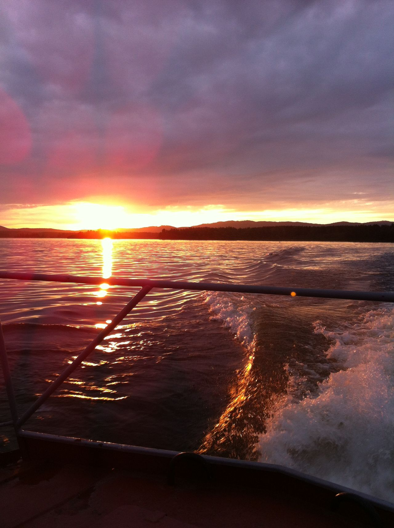 Sunset Lake Boat