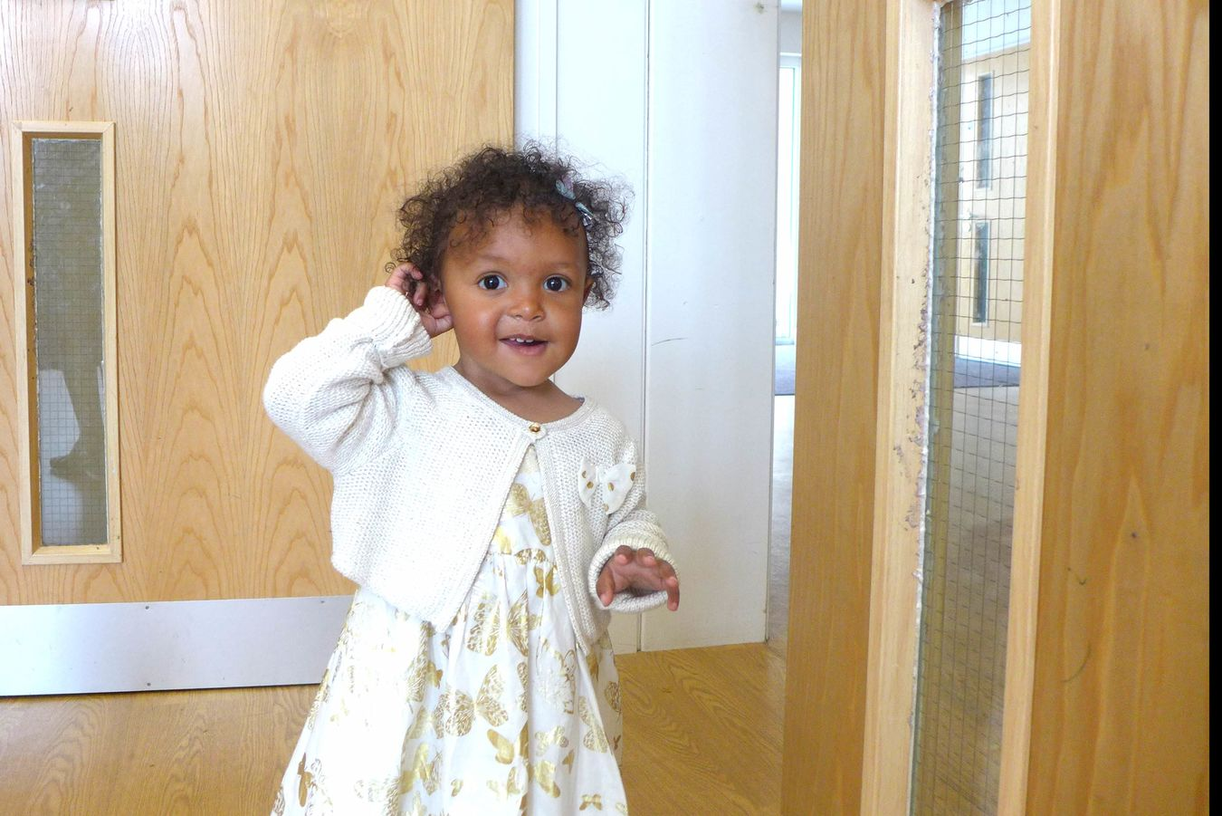 Amazing little girl Amazing View Bimba Caffè Latte Child Curly Hair Cute Daughter Expression Little Girl Mixed Race Nice Day Portrait Walking Girl White Dress