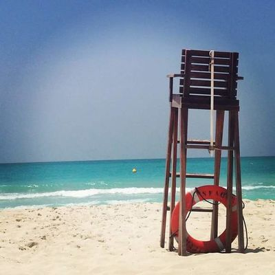 Beach Beauty In Nature Clear Sky Day Horizon Over Water Lifeguard  Lifeguard Hut Nature No People Outdoors Sand Scenics Sea Shore Sky Tranquility Water