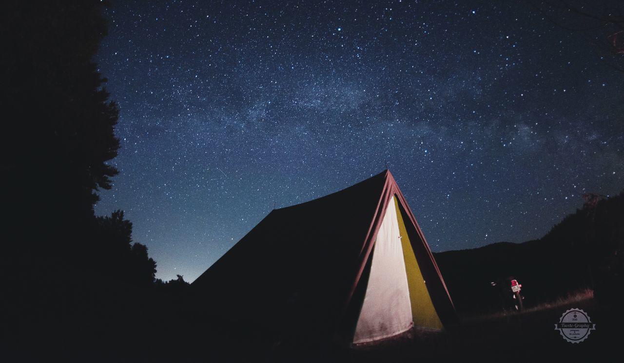 Tent Nightsky Landscape Bulgarian Nature Starsanddreams