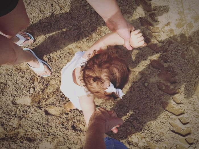 She wants to run before she can walk... Beach Baby Babygirl Walking Around Top Perspective Sand Beach Looking Down Run Walk Youth Of Today EyeEm Best Shots Sommergefühle