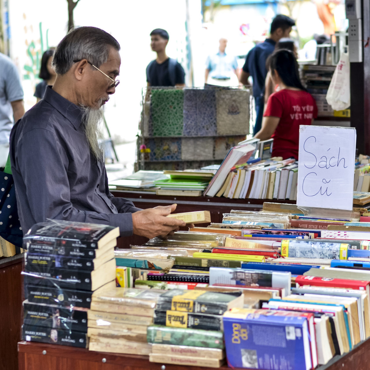 Book for everyone Adult Book Store Day Life Nguyen Van Binh Book Street Outdoors People Real People Streetphotography