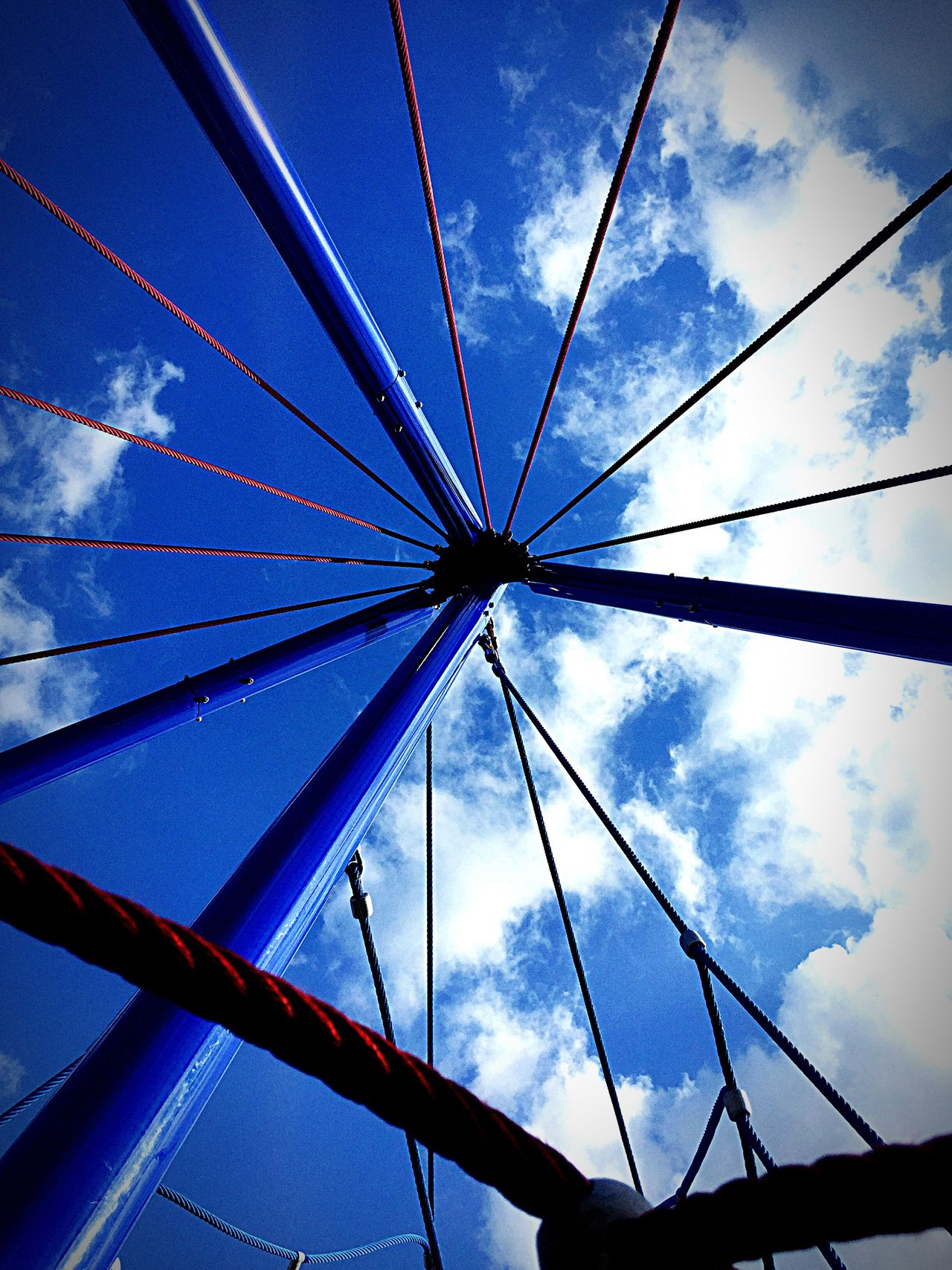Blue Sky Cloud - Sky No People Low Angle View Day Outdoors Photographing Shot Moment Lens Playground Eye4photography  Urban Exploration