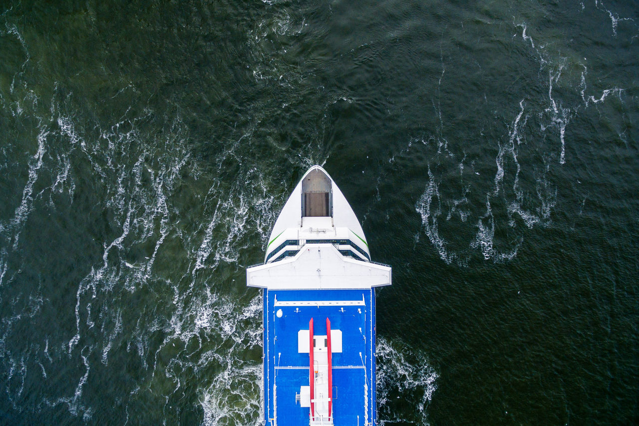 Beauty In Nature Close-up Day Drone  Finland From Above  Helsinki High Angle View Nature No People Outdoors Sea Top Perspective Transportation Vessel Water