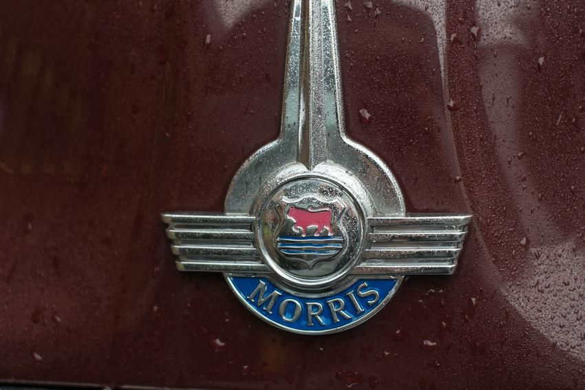 Morris insignia on a old car, London Car Classic Car Close-up Insignia Morris