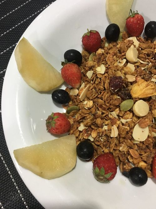 Granola Blackgrapes Strawberry Strawberries Yacon Seed Seeds Superseed Homemade Healthy Healty Food Healthy Lifestyle Healthy Eating Healthy Food Healthyfood Healthylife