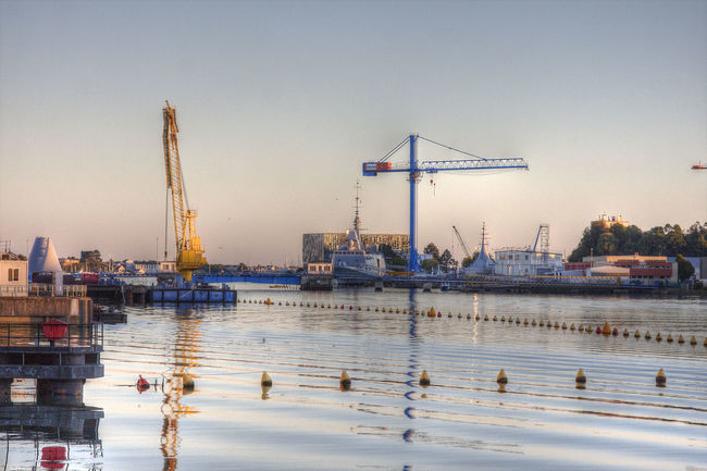 Architecture Bretagne Crane - Construction Machinery Day Development Harbor Industry Lorient Outdoors Water Waterfront